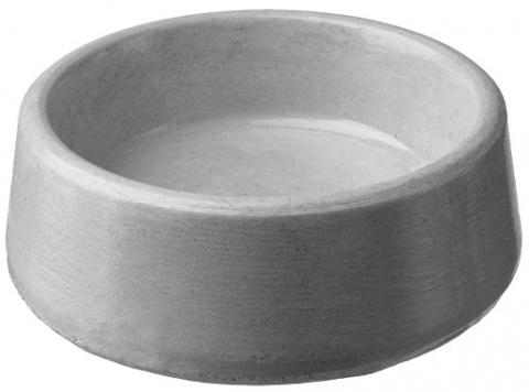 Бетонная миска – The concrete Bowl round BE-MI (15 см, 0,4 л) title=