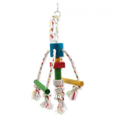 Игрушка для птиц - BIRD JEWEL Деревянная игрушка на веревке, 29см