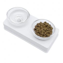 Bļoda kaķiem - Cat It Glass Diner (balta)