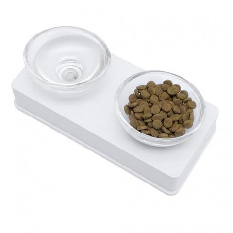 Миска для кошек - Cat It Glass Diner (белый) title=