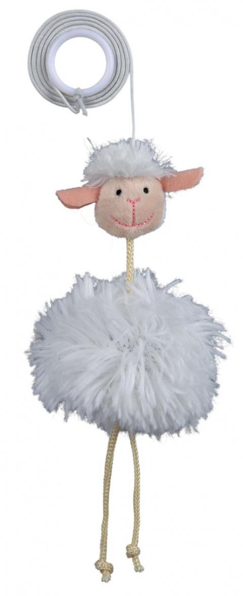 Rotaļlieta kaķiem - TRIXIE Sheep on an Elastic Band, 20cm title=