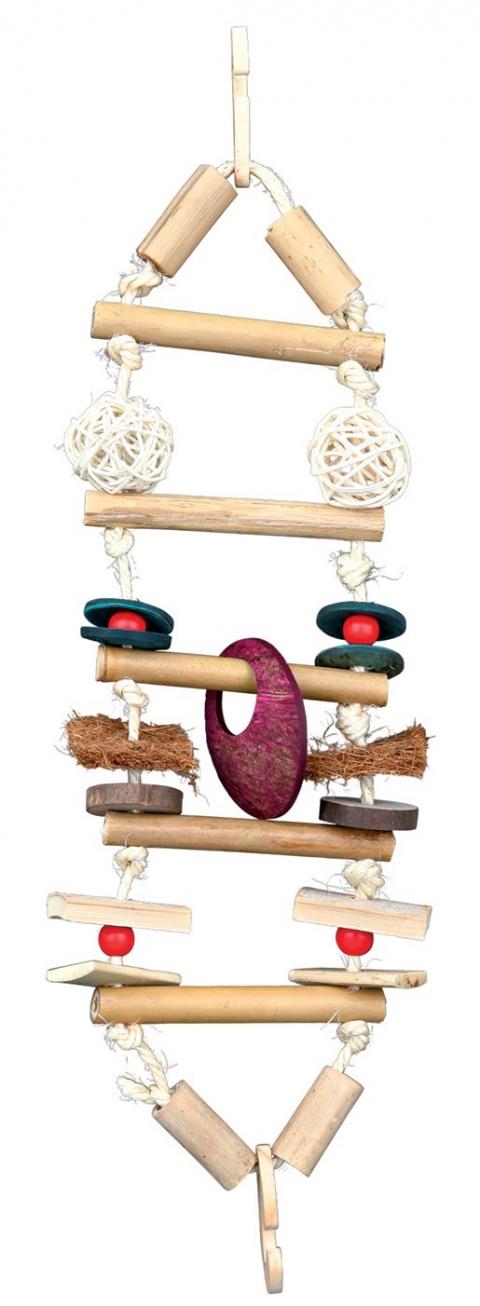 Rotaļlieta putniem - Trixie Suspension bridge, bamboo, 45 cm title=
