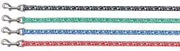 Krūšu siksna kaķēniem - Kitten Harness with Lead, Reflecting, neilona, 20-30 cm/9 mm, 1.20m