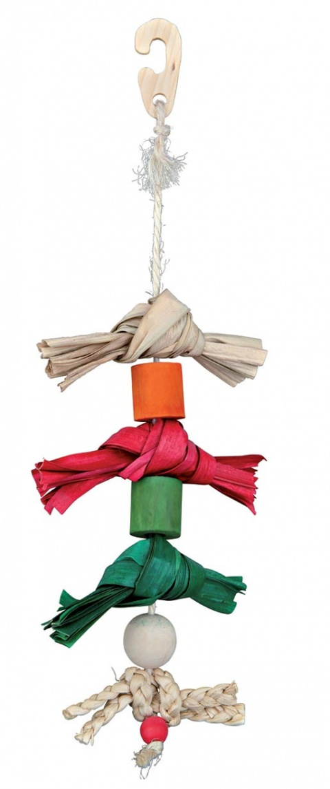 Игрушка для птиц - TRIXIE Natural Toy on a Sisal Rope, 38см title=