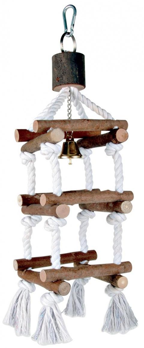 Rotaļlieta putniem - Natural Living tower with ropes, 34 cm title=
