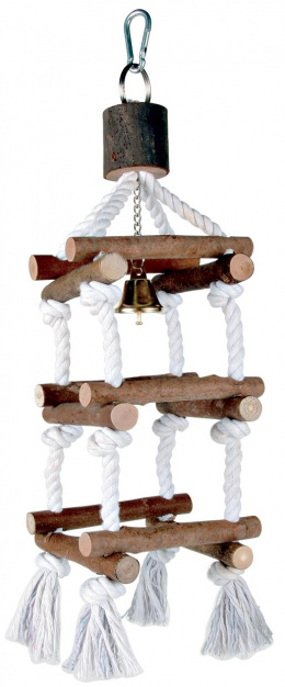Rotaļlieta putniem - Natural Living tower with ropes, 34 cm