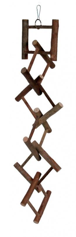 Rotaļlieta putniem - Natural hanging ladder, 12 soļi