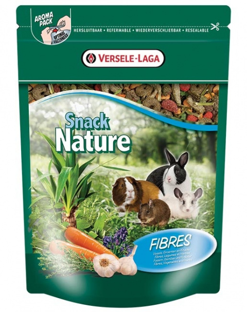 Papildbarība grauzējiem - Versele-Laga Prestige Snack Nature Fibres 0,5 kg title=