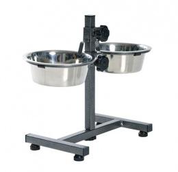 Statīvs ar bļodām - Trixie Bowl Stand with 2 bowls, 2 x 0,75 l