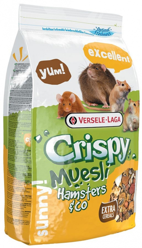 Barība kāmjiem - Crispy Muesli Hamster & Co 400g title=
