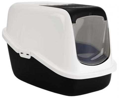 Tualete kaķiem – Savic Nestor, black-white, 56 x 39 x 38,5 cm title=