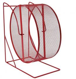 Аксессуар для грызунов - Колесо для упражнений с закрытой беговой сеткой, Metal, 28cm