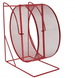 Aksesuārs grauzējiem - Exercise Wheel with Closed Mesh Running Surface, Metal, 28cm