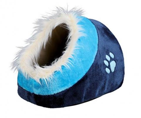 Guļvieta kaķiem - Cushy cave 'Minou' 35*26*41cm (dark zila/ zila)