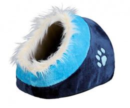 Спальное место для кошек - Cushy cave 'Minou' 35*26*41cm (темно синий/ синий)