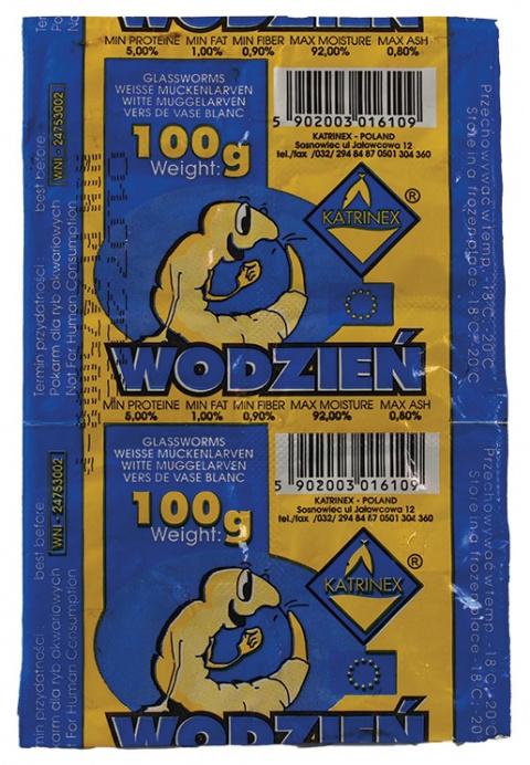 Saldēta barība zivīm - Katrinex balta Worms 100g title=
