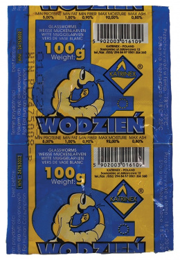 Saldēta barība zivīm - Katrinex balta Worms 100g