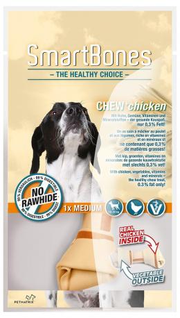 Лакомство для собак - SmartBones Chew+Chicken medium, 1шт.