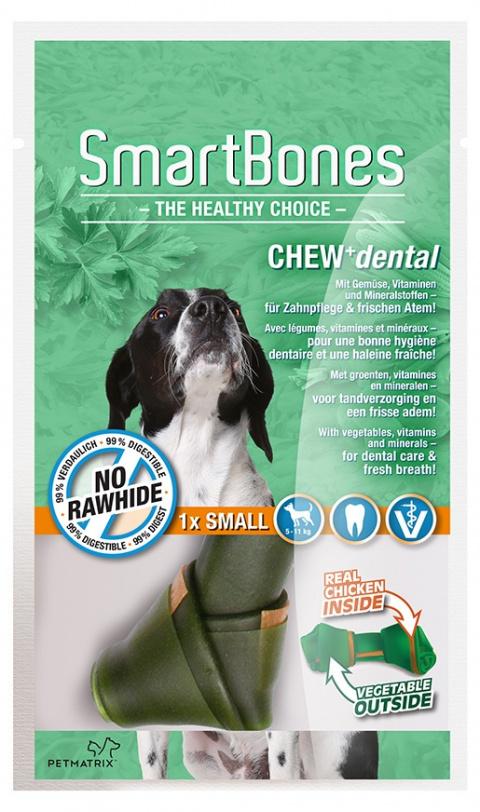 Лакомство для собак - SmartBones Chew+Dental small, 1шт.