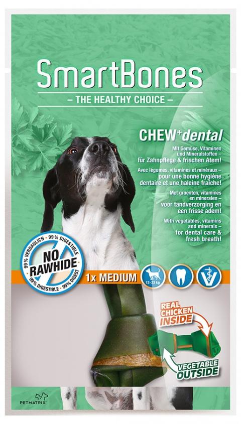 Gardums suņiem - SmartBones Chew+Dental medium, 1gb. title=