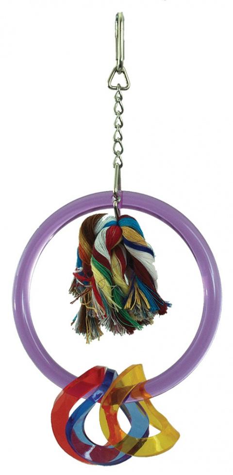 Игрушка для птиц - Акриловое кольцо 13.5*6*17 cm.
