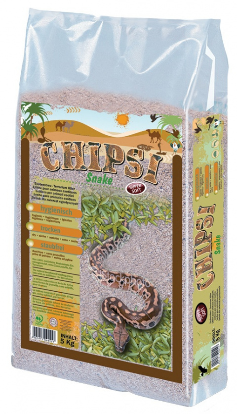 Pakaiši terārijam - JRS Chipsi Snake 5 kg title=