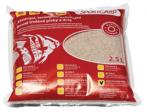 Grunts akvārijam - baltas smiltis 1.3mm 3,3kg title=