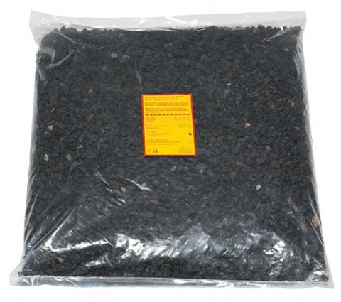 Грунт для аквариума - камушки 4 (черный) 10kg title=