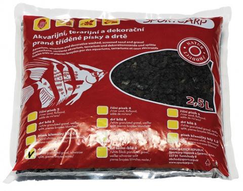 Грунт для аквариума - камушки 4 (черный) 3,3 кг title=