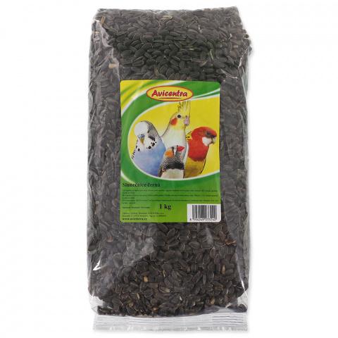 Barība putniem - Avicentra, saulespuķu sēklas (melnas), 1 kg title=