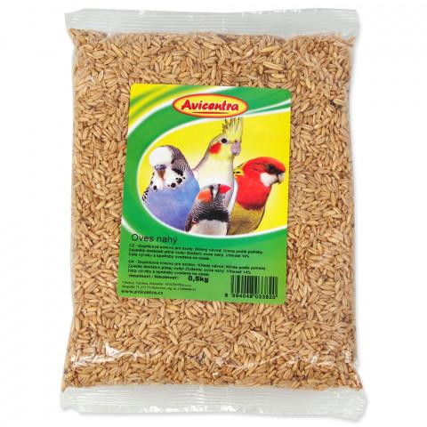 Корм для птиц - Avicentra, очищенный овес, 500 g title=
