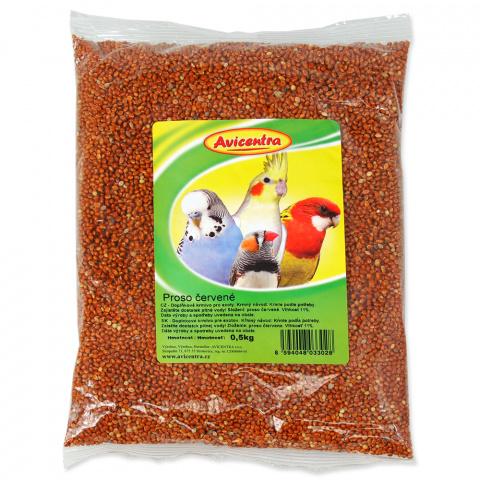 Корм для птиц - красные зерна проса 500g