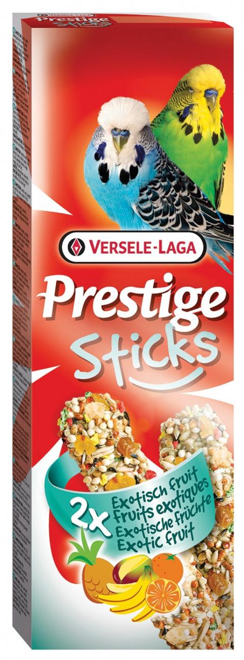 Gardums putniem – Versele-Laga Prestige 2 x Sticks Budgies Exotic Fruit, 60 g title=