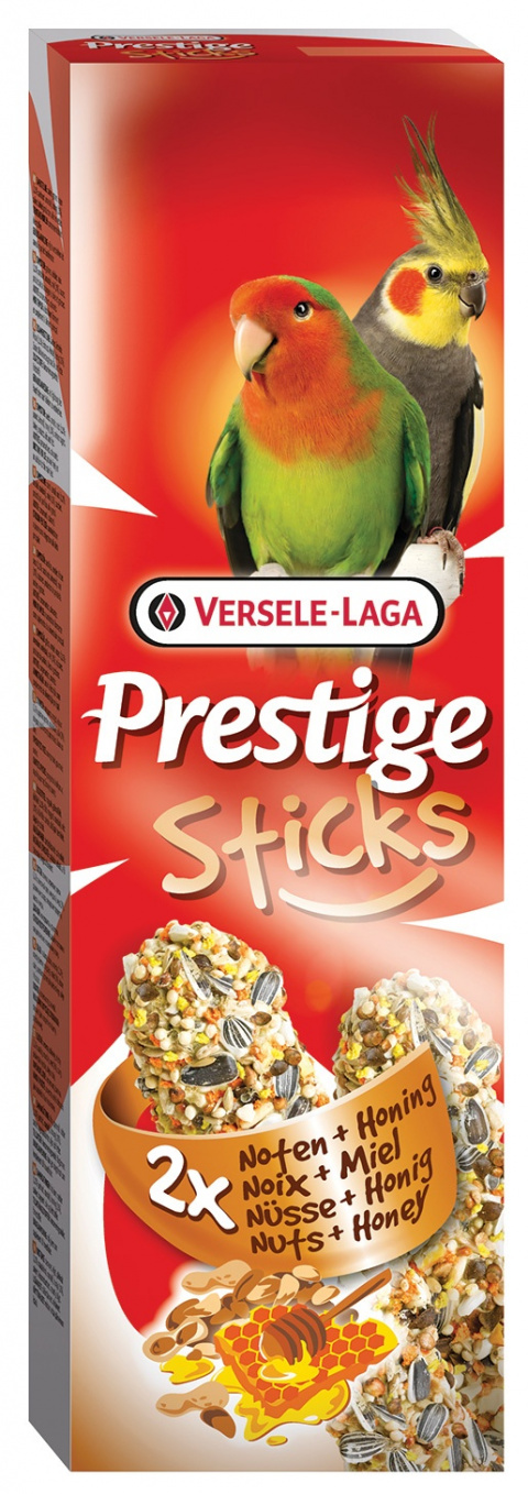 Gardums putniem - Prestige 2x Sticks Big Parakeet Nuts&Honey 140g