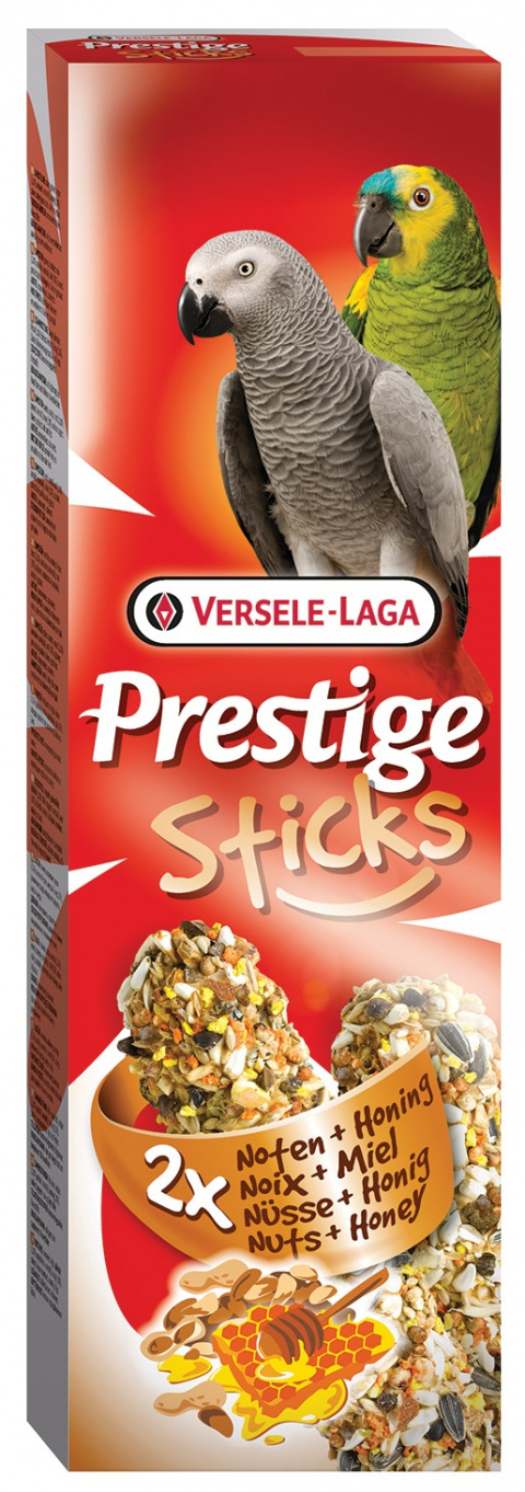 Лакомство для птиц – Versele-Laga Prestige 2 x Sticks Parrots Nuts and Honey, 140 г title=