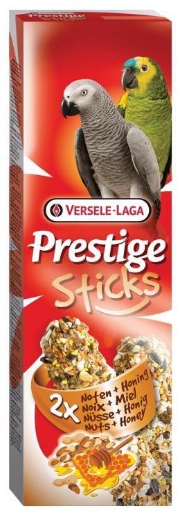 Лакомство для птиц – Versele-Laga Prestige 2 x Sticks Parrots Nuts and Honey, 140 г