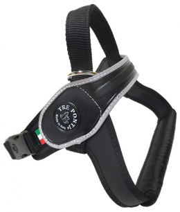Krūšu siksna - TRE PONTI atstarojoša krūšu siksna melna, 40-60kg