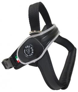 Шлейка - TRE PONTI отражающая шлейка для собак, черный, 40-60kg