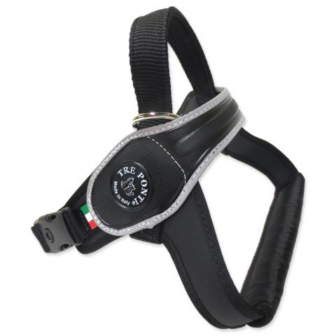 Шлейка - TRE PONTI отражающая шлейка для собак, черный, 10-20kg title=