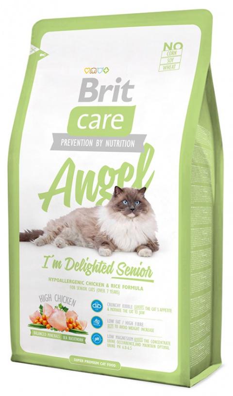 Barība kaķiem - Brit Care Cat Angel I'm Delighted Senior, ar vistas gaļu un rīsiem, 2kg title=