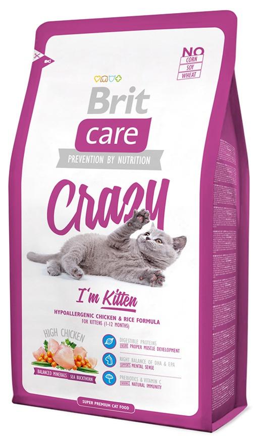 Корм для кошек - Brit Care Cat Crazy I'm Kitten, с курицей и рисом, 400 gr