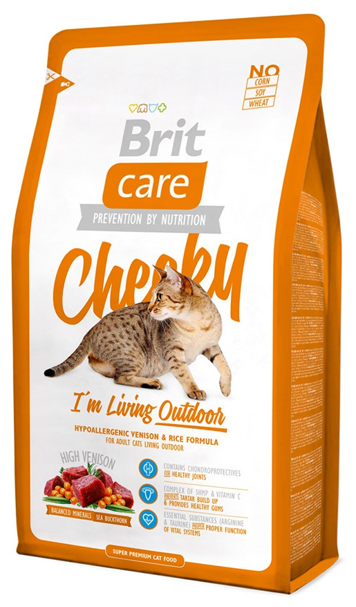 Корм для кошек - Brit Care Cat Cheeky I'm Living Outdoor, оленина и рис, 2 kg
