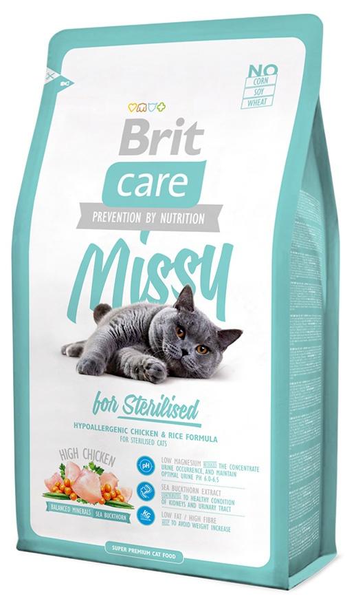 Корм для кошек - Brit Care Cat Missy for Sterilised, курица с рисом, 2 kg