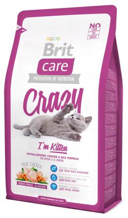 Barība kaķiem - Brit Care Cat Crazy I'm Kitten,ar vistas gaļu un rīsiem, 2 kg