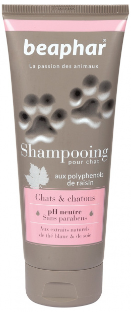 Šampūns kaķiem - Beaphar Shampooing Pour Chien, CHATS & CHATONS, 200ml