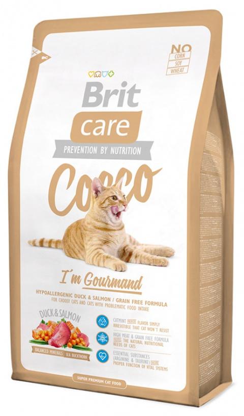 Корм для кошек - Brit Care Cat Cocco I'am Gourmand, утка и лосось , 400 gr title=