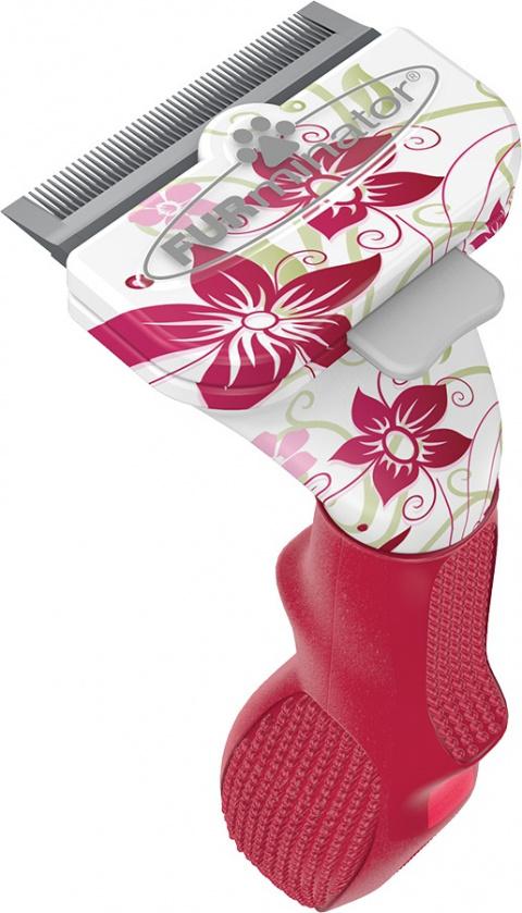 Расческа-фурминатор для кошек - FURminator deShedding tool Limited Edition, для длинной шерсти, S title=
