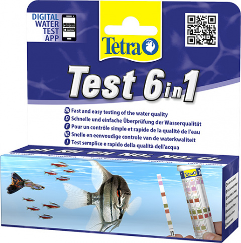 Тест для пресноводного аквариума - Tetra Test 6in1