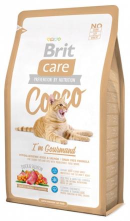 Корм для кошек - Brit Care Cat Cocco I'am Gourmand, утка и лосось , 2 kg