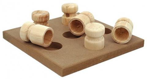 Rotaļlieta suņiem - Dog Fantasy Interactive Wooden toy, 18*18*5 cm title=